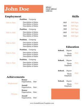 Resume current job dates